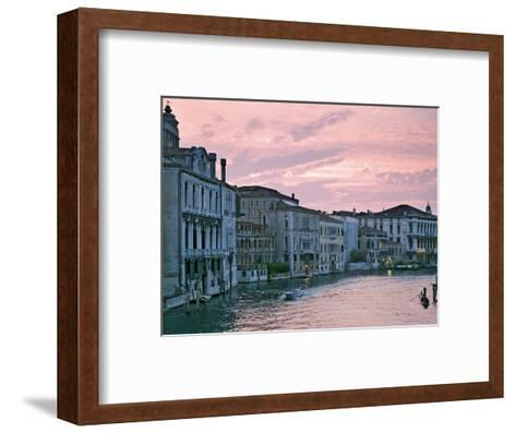Grand Canal at Dusk from Academia Bridge, Venice, Italy-Dennis Flaherty-Framed Art Print