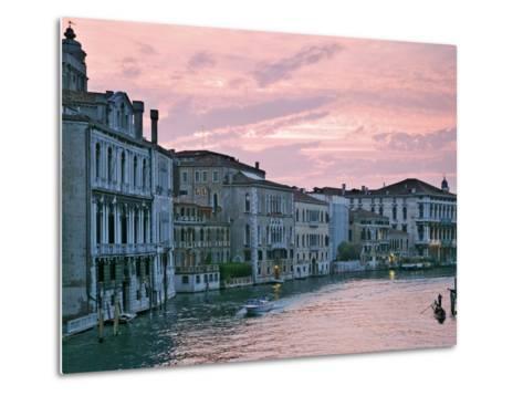 Grand Canal at Dusk from Academia Bridge, Venice, Italy-Dennis Flaherty-Metal Print