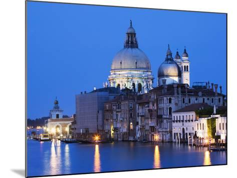 Santa Maria della Salute Cathedral from Academia Bridge along the Grand Canal at Dusk, Venice-Dennis Flaherty-Mounted Photographic Print
