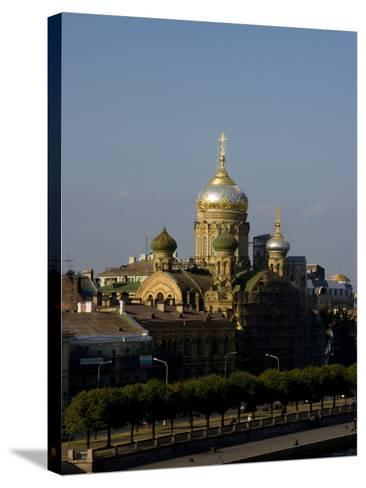 View of City, St. Petersburg, Russia-Nancy & Steve Ross-Stretched Canvas Print