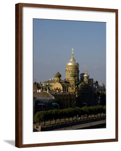 View of City, St. Petersburg, Russia-Nancy & Steve Ross-Framed Art Print