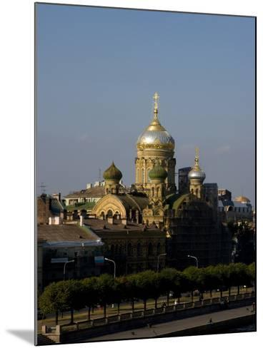 View of City, St. Petersburg, Russia-Nancy & Steve Ross-Mounted Photographic Print