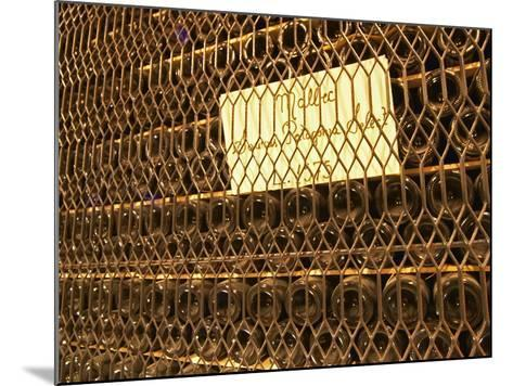 Aging Bottles of Malbec, Bodega Familia Schroeder Winery, Neuquen, Patagonia, Argentina-Per Karlsson-Mounted Photographic Print