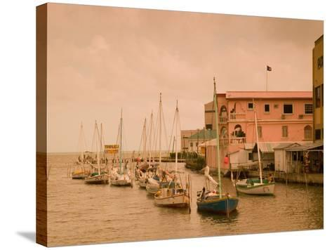 Waterfront Canal, Belize City, Belize-Stuart Westmoreland-Stretched Canvas Print