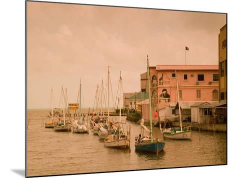 Waterfront Canal, Belize City, Belize-Stuart Westmoreland-Mounted Photographic Print