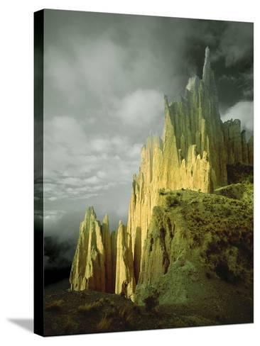 View of the Badlands Above La Paz, Bolivia-Jim Zuckerman-Stretched Canvas Print