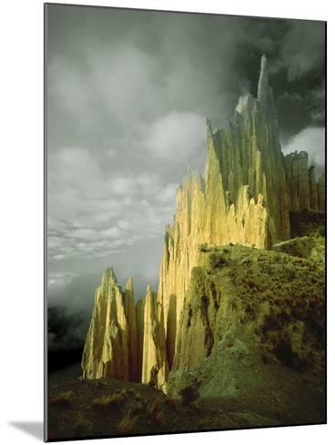 View of the Badlands Above La Paz, Bolivia-Jim Zuckerman-Mounted Photographic Print