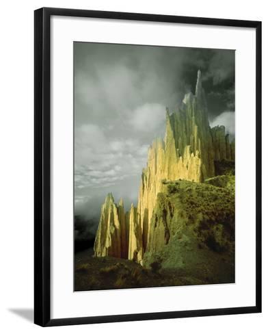 View of the Badlands Above La Paz, Bolivia-Jim Zuckerman-Framed Art Print