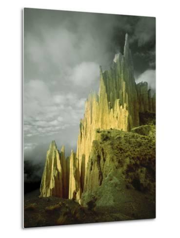 View of the Badlands Above La Paz, Bolivia-Jim Zuckerman-Metal Print