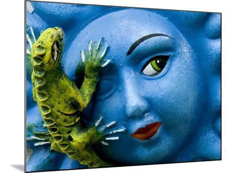 Ceramic Plaque Face and Lizard, San Miguel De Allende, Mexico-Nancy Rotenberg-Mounted Photographic Print