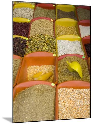 Corn and Grains Displayed in Market, Cuzco, Peru-John & Lisa Merrill-Mounted Photographic Print