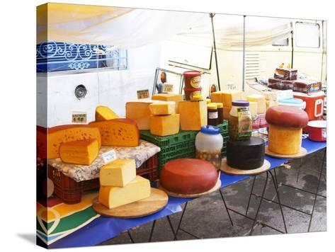 Street Market Stall Selling Cheese, Montevideo, Uruguay-Per Karlsson-Stretched Canvas Print