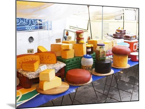 Street Market Stall Selling Cheese, Montevideo, Uruguay-Per Karlsson-Mounted Photographic Print