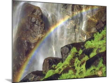 Rainbow at the Base of Bridal Veil Falls, Yosemite National Park, California, USA-Christopher Talbot Frank-Mounted Photographic Print