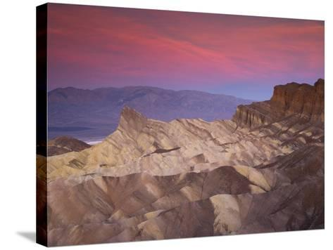 First Light on Zabriskie Point, Death Valley National Park, California, USA-Darrell Gulin-Stretched Canvas Print