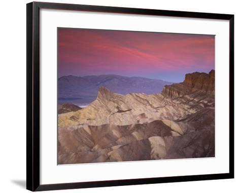 First Light on Zabriskie Point, Death Valley National Park, California, USA-Darrell Gulin-Framed Art Print
