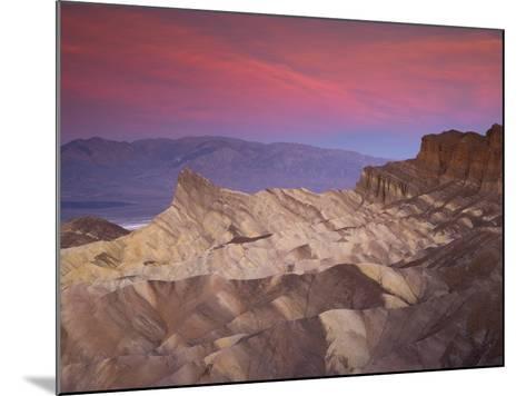 First Light on Zabriskie Point, Death Valley National Park, California, USA-Darrell Gulin-Mounted Photographic Print