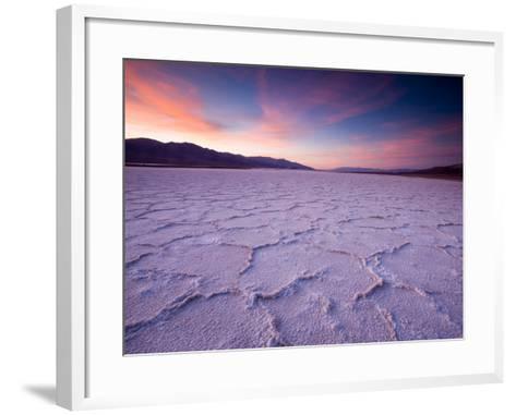 Pressure Ridges in the Salt Pan Near Badwater, Death Valley National Park, California, USA-Darrell Gulin-Framed Art Print