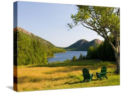 Adirondack Chairs on the Lawn of the Jordan Pond House, Acadia National Park, Mount Desert Island-Jerry & Marcy Monkman-Stretched Canvas Print