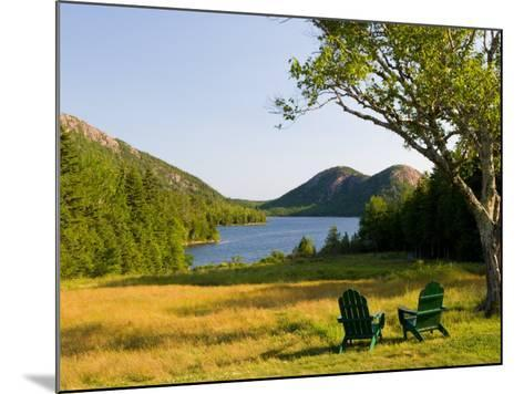 Adirondack Chairs on the Lawn of the Jordan Pond House, Acadia National Park, Mount Desert Island-Jerry & Marcy Monkman-Mounted Photographic Print