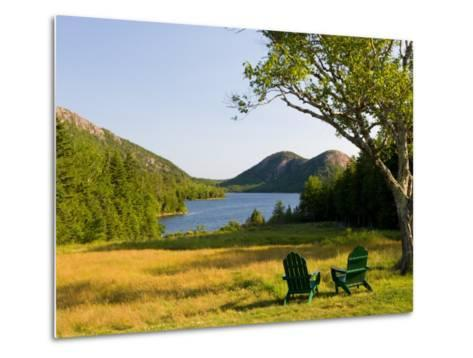 Adirondack Chairs on the Lawn of the Jordan Pond House, Acadia National Park, Mount Desert Island-Jerry & Marcy Monkman-Metal Print