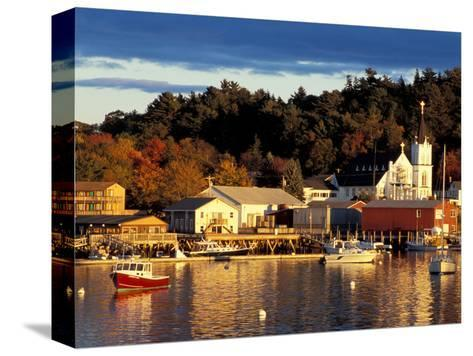 Our Lady Queen of Peace Catholic Church, Boothbay Harbor, Maine, USA-Jerry & Marcy Monkman-Stretched Canvas Print