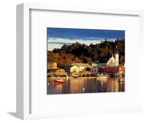 Our Lady Queen of Peace Catholic Church, Boothbay Harbor, Maine, USA-Jerry & Marcy Monkman-Framed Art Print