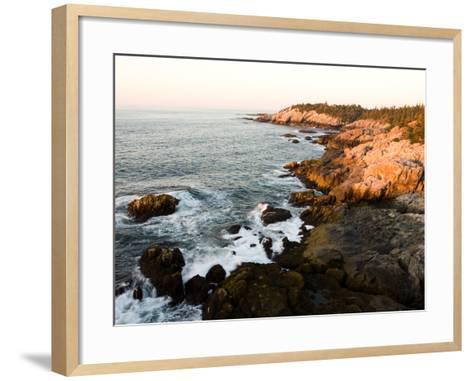 Rocky Coast of Isle Au Haut, Acadia National Park, Maine, USA-Jerry & Marcy Monkman-Framed Art Print