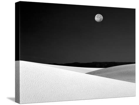 Nighttime with Full Moon Over the Desert, White Sands National Monument, New Mexico, USA-Jim Zuckerman-Stretched Canvas Print