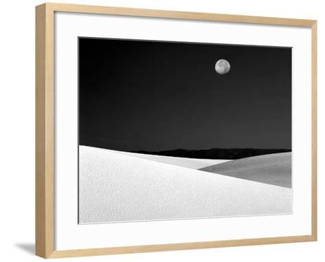Nighttime with Full Moon Over the Desert, White Sands National Monument, New Mexico, USA-Jim Zuckerman-Framed Art Print