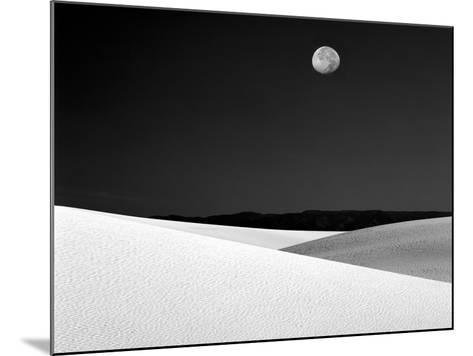 Nighttime with Full Moon Over the Desert, White Sands National Monument, New Mexico, USA-Jim Zuckerman-Mounted Photographic Print