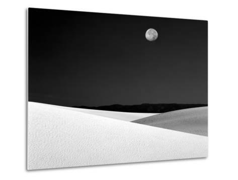 Nighttime with Full Moon Over the Desert, White Sands National Monument, New Mexico, USA-Jim Zuckerman-Metal Print