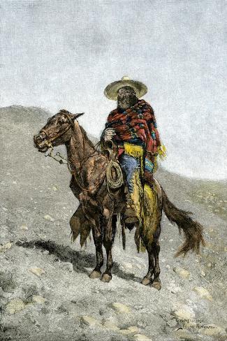 Mexican Vaquero--Stretched Canvas Print