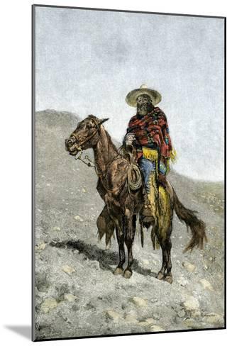 Mexican Vaquero--Mounted Giclee Print