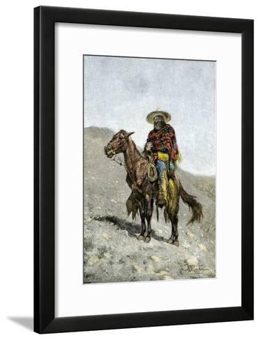 Mexican Vaquero--Framed Art Print