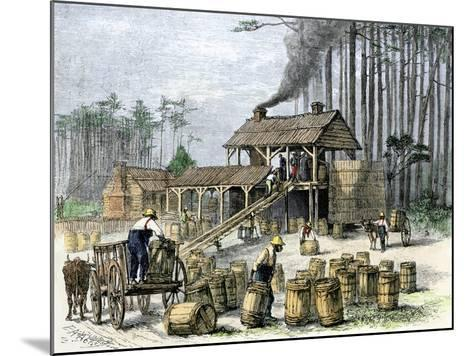 Turpentine Distillery in North Carolina, c.1870--Mounted Giclee Print