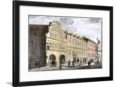 Dutch East India Company Warehouses in Amsterdam, c.1600 or 1700--Framed Art Print