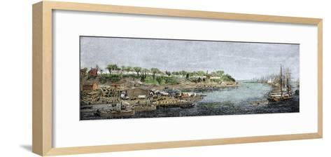 General Grant's Headquarters and Base of Supplies on the James River, c.1864--Framed Art Print