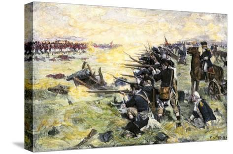 Americans Holding Their Ground at the Battle of the Brandywine, American Revolution, c.1777--Stretched Canvas Print