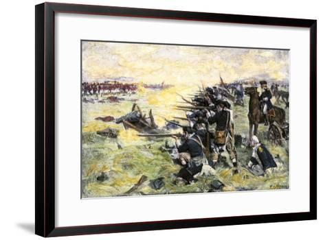 Americans Holding Their Ground at the Battle of the Brandywine, American Revolution, c.1777--Framed Art Print