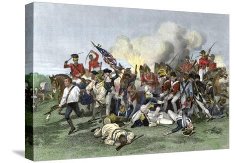 Death of General de Kalb at the Battle of Camden, South Carolina, c.1780--Stretched Canvas Print