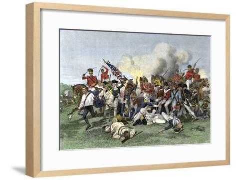 Death of General de Kalb at the Battle of Camden, South Carolina, c.1780--Framed Art Print
