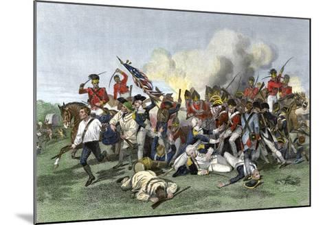 Death of General de Kalb at the Battle of Camden, South Carolina, c.1780--Mounted Giclee Print
