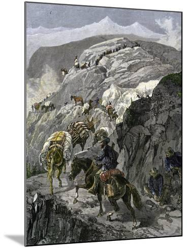 General Oliver Otis Howard Pursuing the Nez Perce Tribe on the Dead Mule Trail in Idaho, c.1877--Mounted Giclee Print