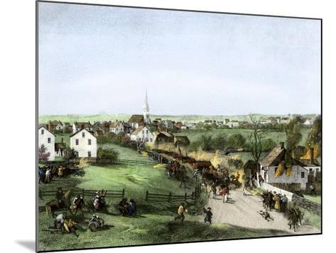 Retreat of the British from Concord, Massachusetts, at the Outset of the American Revolution--Mounted Giclee Print