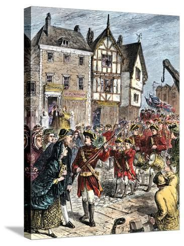 British Troops Entering Boston to Enforce Taxation and Other Colonial Legislation--Stretched Canvas Print