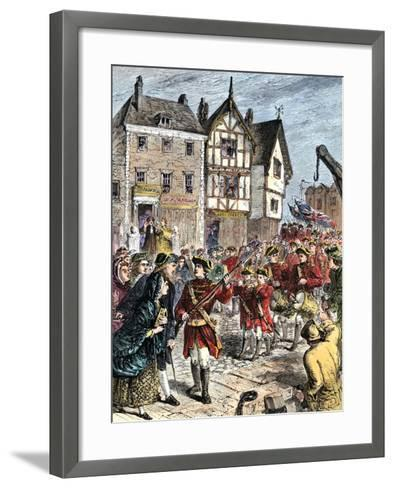 British Troops Entering Boston to Enforce Taxation and Other Colonial Legislation--Framed Art Print