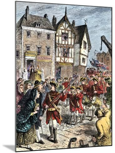 British Troops Entering Boston to Enforce Taxation and Other Colonial Legislation--Mounted Giclee Print