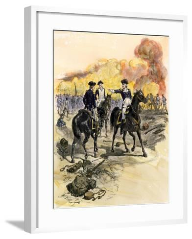 George Washington Reproving General Charles Lee for Retreating at the Battle of Monmouth, c.1778--Framed Art Print