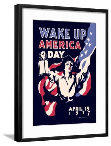 Wake Up America Day-James Montgomery Flagg-Framed Art Print